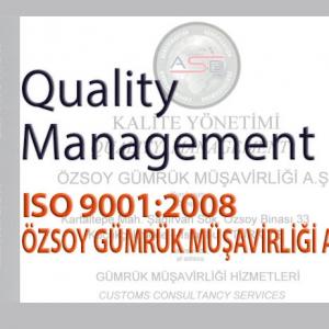 Hizmet Kalite Belgemiz – ISO 9001