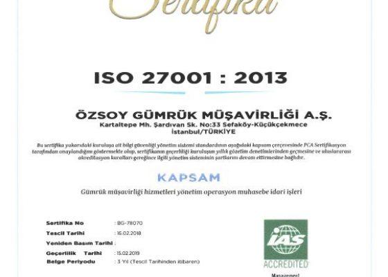 Müşteri Memnuniyeti Yönetim Sistemi ISO 10002:2004