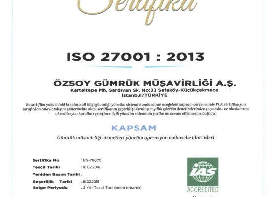 Bilgi Güvenliği Yönetim Sistemi ISO 27001:2013